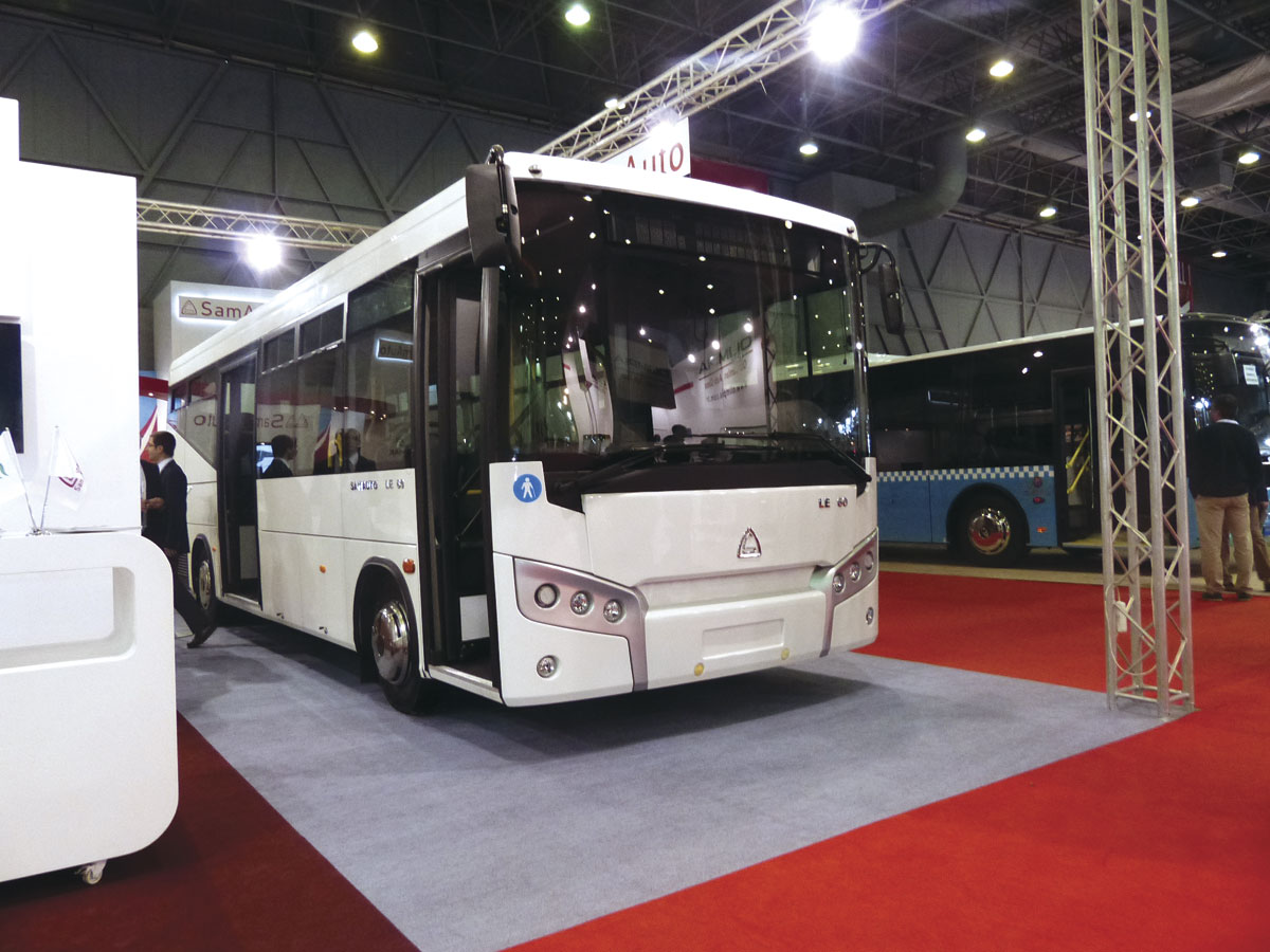 The first SamAuto low entry midibus, with a Cummins engine