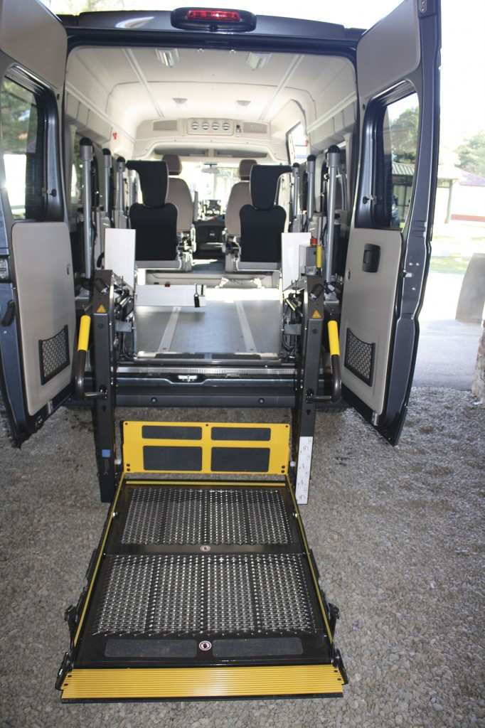 This picture shows the flexibility of the Ducato, this one has been converted to an accessible vehicle