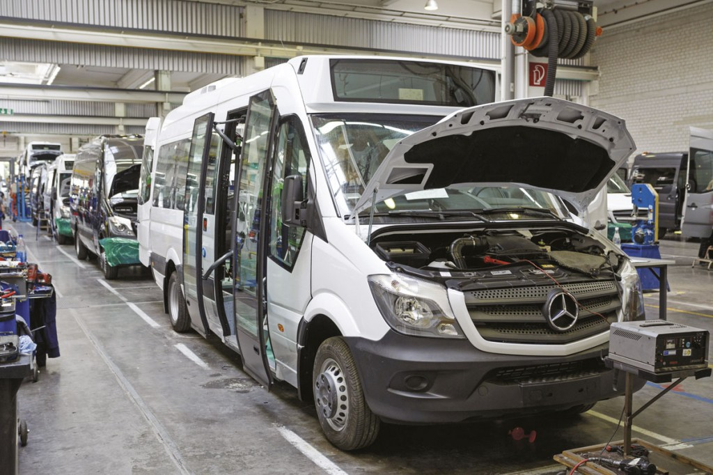 A Sprinter City on the production line