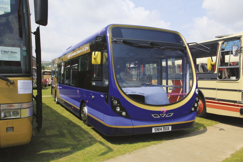 First have introduced high specification Wrightbus Streetlite DFs onto interurban routes across South Wales