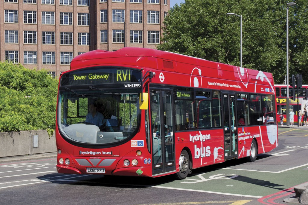 The UK is a leader in the application of hydrogen as a fuel for public transport in the UK. The London trial continues, with the second generation vehicles from Wrightbus seen here, and a new operation with Van Hool vehicles has been launched in Aberdeen