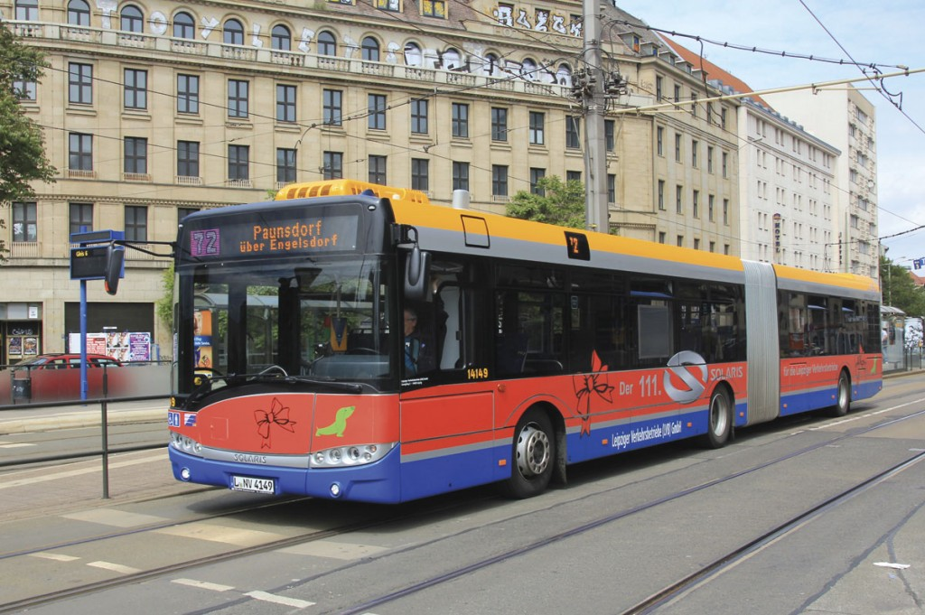 LVB is the main provider of bus and tram services in Leipzig and delegates were invited to sample their services. Solaris have been the city's main supplier of buses in recent years and the 111th delivery was celebrated earlier this year with a special livery on the vehicle concerned