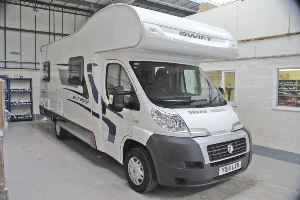 Newly acquired is this Fiat Ducato based Swift motorhome which will be used to demonstrate the company's products for the motorhome and caravan sector, many of which are also relevant to the coach sector