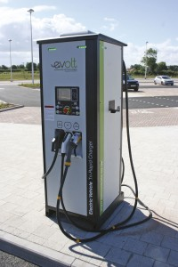 One of the evolt charging units at the Poppleton Bar site, provided by APT Technologies