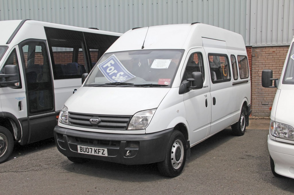 Taken in part exchange against an Iveco Daily was this factory converted 16 passenger LDV Maxus dating from 2007. It is on offer at £5,995