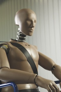The Humanetics Hybrid 3 crash test dummy used at iQ features a skeleton substructure, ensuring it accurately replicates how a human would react in an impact