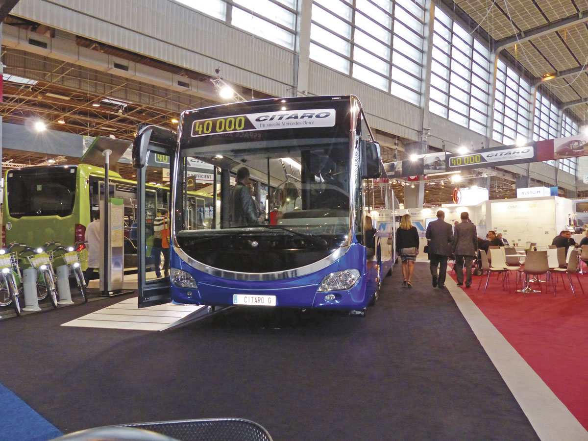The Mercedes-Benz Citaro G BRT vehicle with restyled front