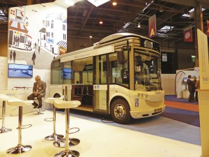 The little Bluebus all-electric vehicle has been around for several years