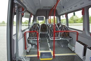 The low floor Sprinter City 35 is shorter and has one less seat row than the City 45 developed for the UK