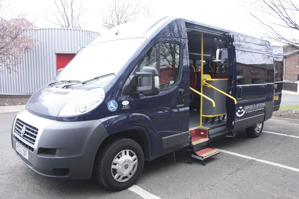 A Fiat Ducato mobility vehicle conversion by Minibus Options