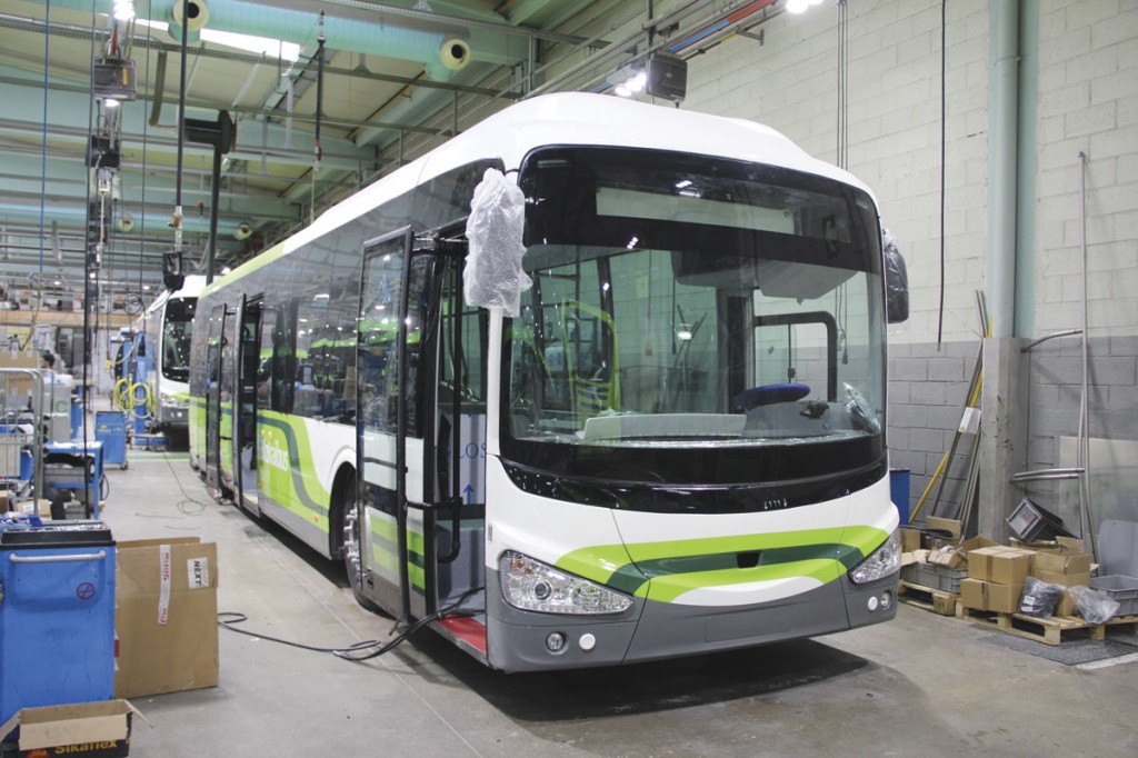 An i3 from a large batch for Bizkai Bus takes shape on the same lines as the coach range