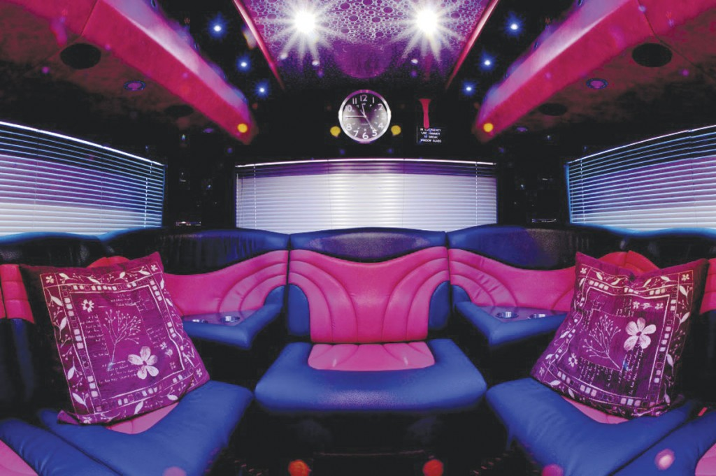 Danilo Lucchi UK supplied Protrim UK Ltd of Bradford with the materials used in this interior of this band bus for Jumbocruiser