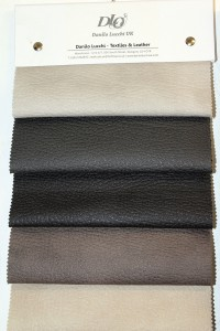Example of the 'Mozart' range of heavy grain leather effect fabrics