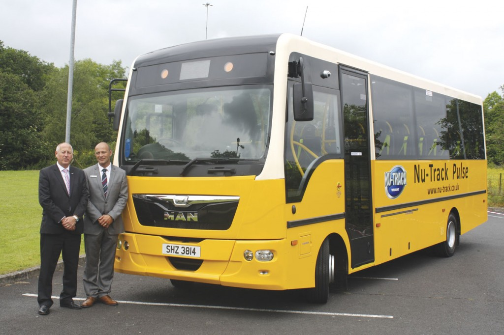 Ian McLean, Head of Bus and Coach UK, MAN and John McLeister, Operations Director of Nu-Track Ltd