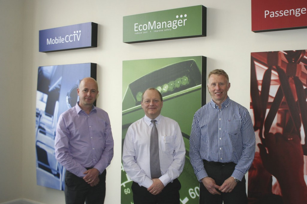 (LtoR) Technical Sales Director, Mark Johnson; Russ Singleton and Andrew Prince