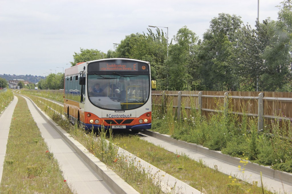 One 12m Wright bodied Scania is operated on the Busway. The longer length sees it deployed on the E route