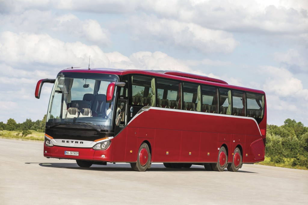 The 15m ComfortClass S519HD can seat up to 71 passengers