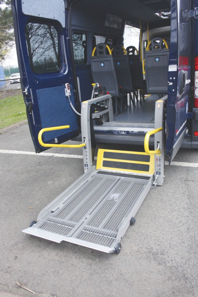 The Ducato was fitted with an AMF Bruns in-board wheelchair lift