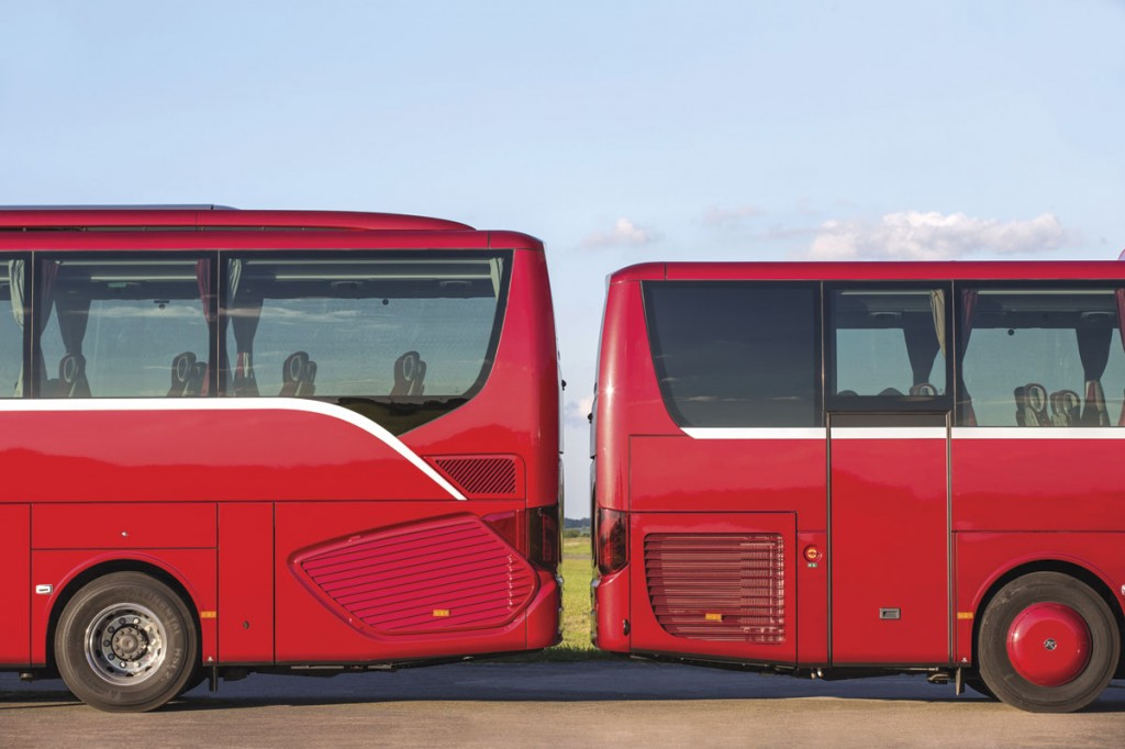 The height of the HD (left) and MD models is different, as is the brightwork trim. A rear door is available on the MD