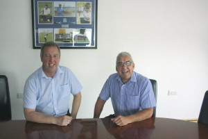 The two Colins. Left Colin Nicholl After Sales Manager and right Colin Taylor Service Manager