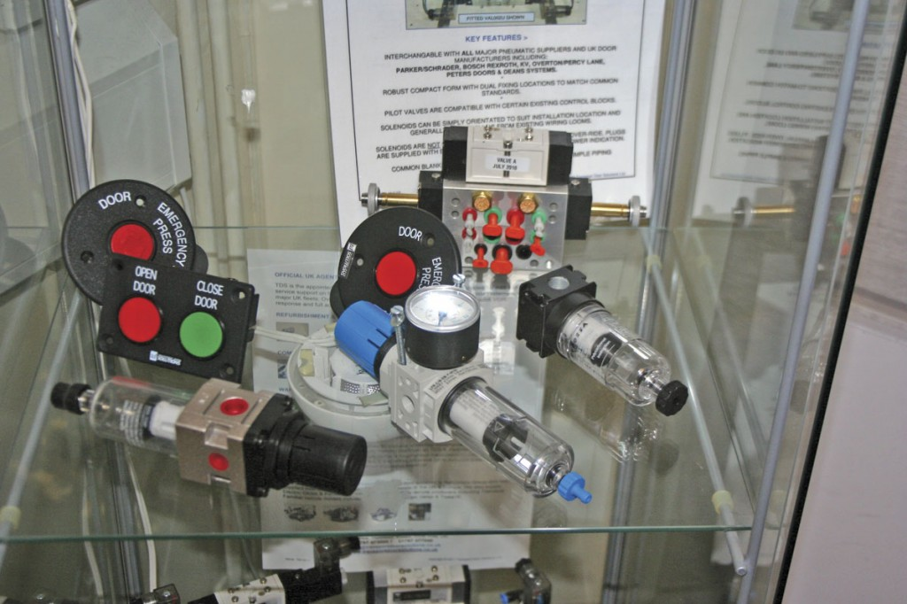 A few of the company's products, including air prep devices, buttons and other fittings