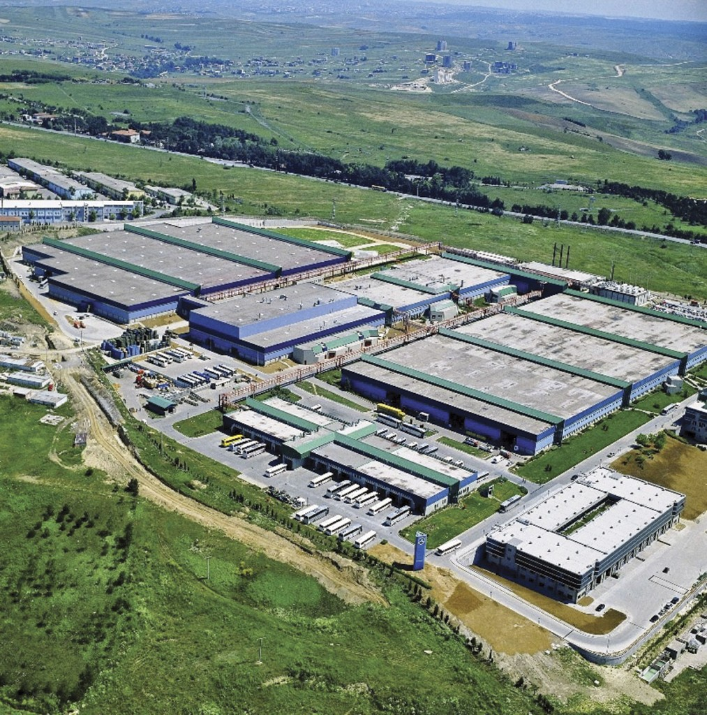 A recent aerial view of the vast Hosdere factory