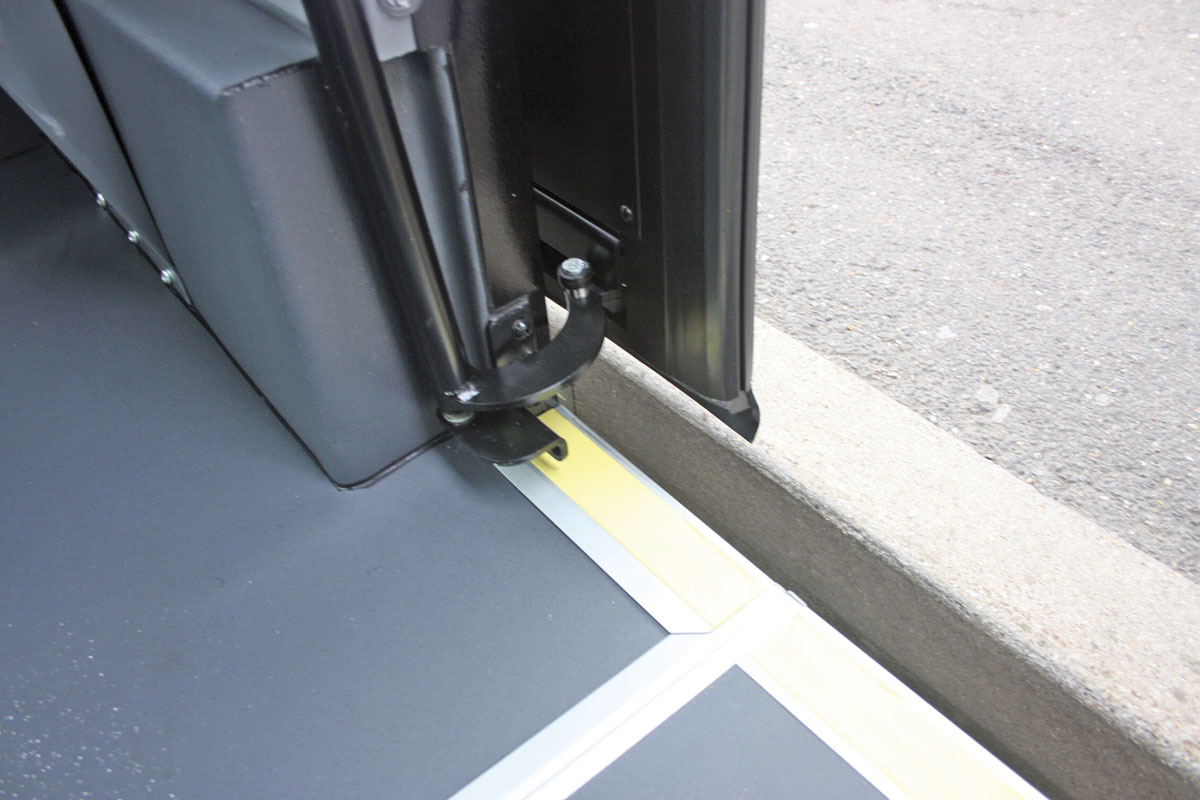 All the operating mechanism for the the Ventura sliding plug door is contained inside the vehicle & EVM goes low floor - Bus \u0026 Coach Buyer
