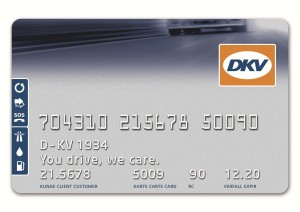 An example of one of DKV's fuel cards