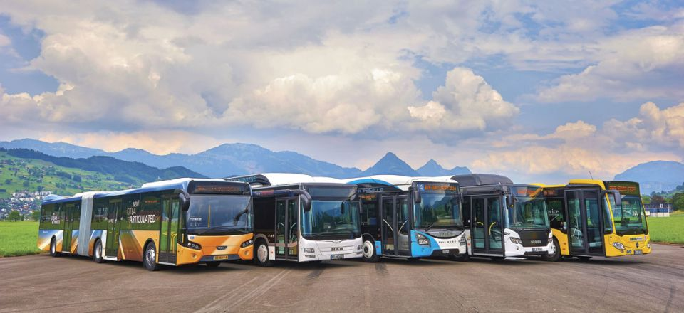 Bus Euro Test 2014 - Five very different European buses