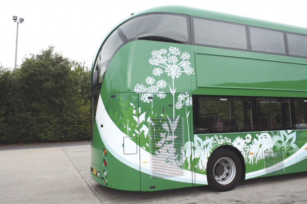 Close up of the nature inspired livery which promotes the environmental aspect of the proposals