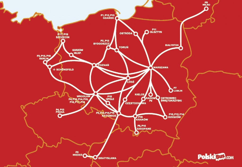 From October, PolskiBus.com will operate across 22 Polish cities and into 5 European countries with over 300 journeys a day