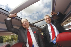 MD for Oxford Tube, Martin Sutton and Chief Executive of Stagecoach Group, Martin Griffiths