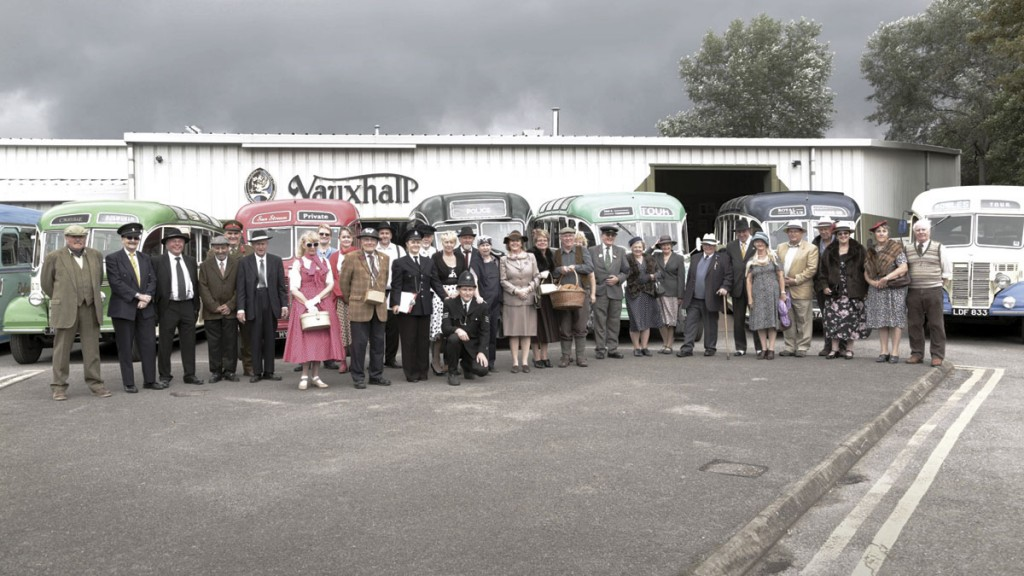 Many of the coach owners and their guests dressed in period 1940s costume on the Sunday