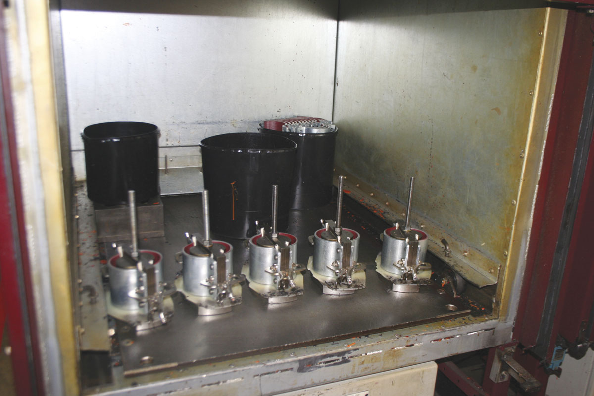 Moulds in one of the company's industrial ovens