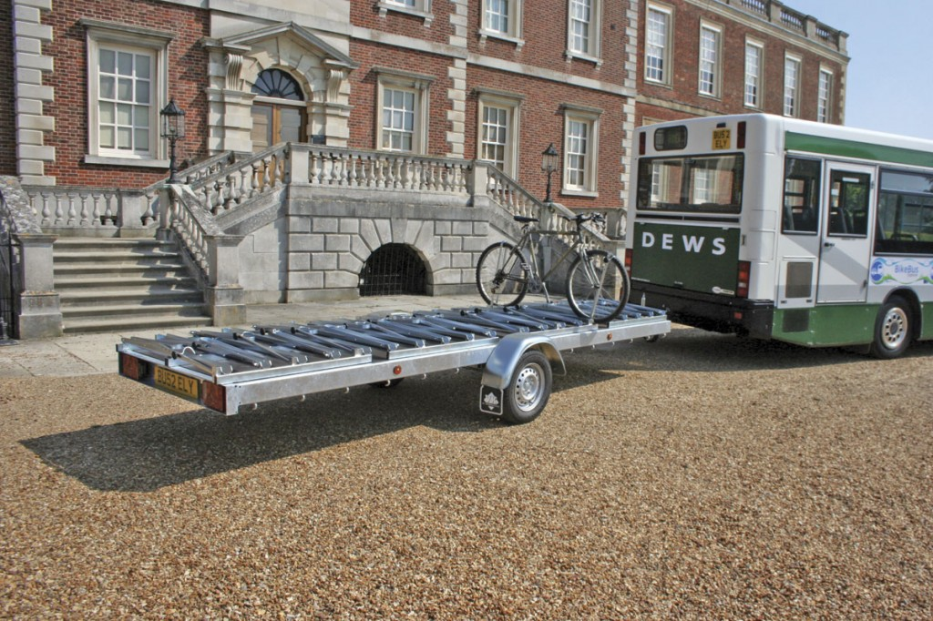 Provided by Dutch company, VK International, the bike rack is thought to be the first of its kind in the UK