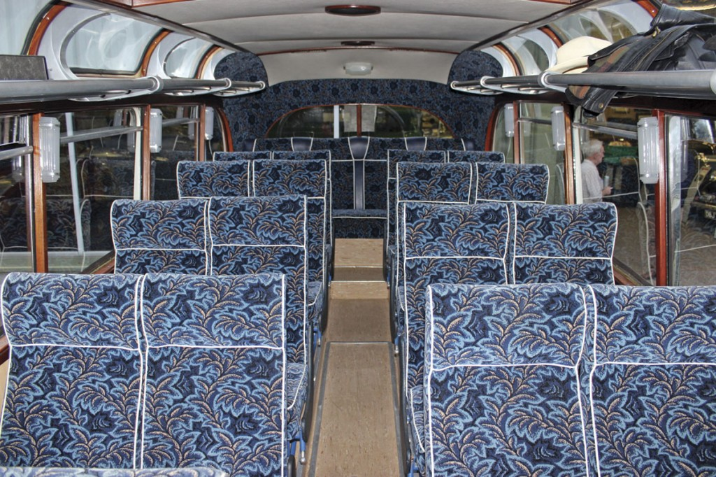 The interior of the Taw & Torridge vehicle which featured 24 Chapman recliners
