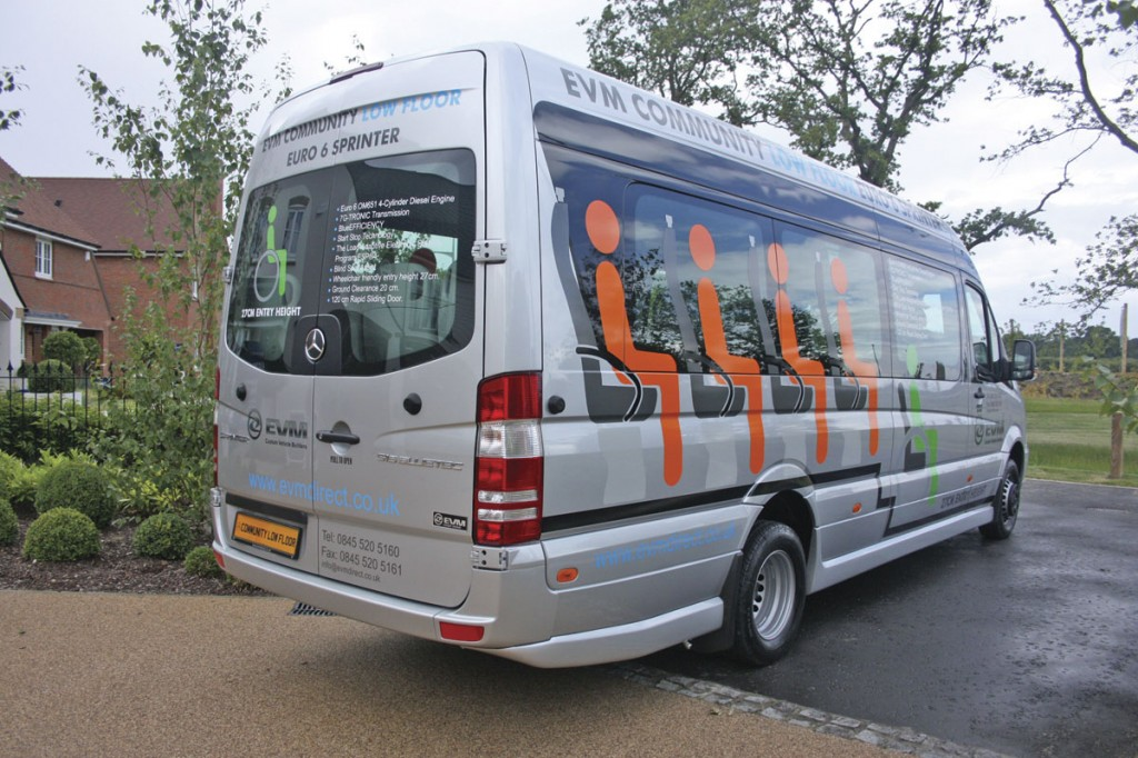 The normal rear doors are retained though could be replaced by a coach rear end at extra cost. This vehicle is fitted with styling skirts etc which are not part of the standard package