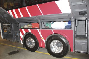 The offside over axle lockers