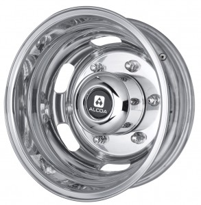 The rear wheel from the new Sprinter range of Alcoa aluminium forged wheels