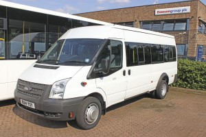 These factory specification Ford Transit minibuses are popular with operators.
