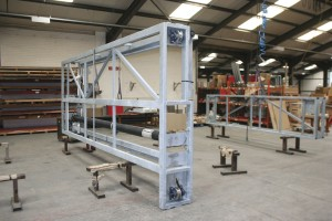 A wash system frame under construction at the company's Alcester factory