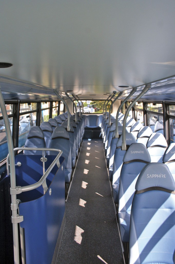 Leather seating has been specified for the Sapphire buses