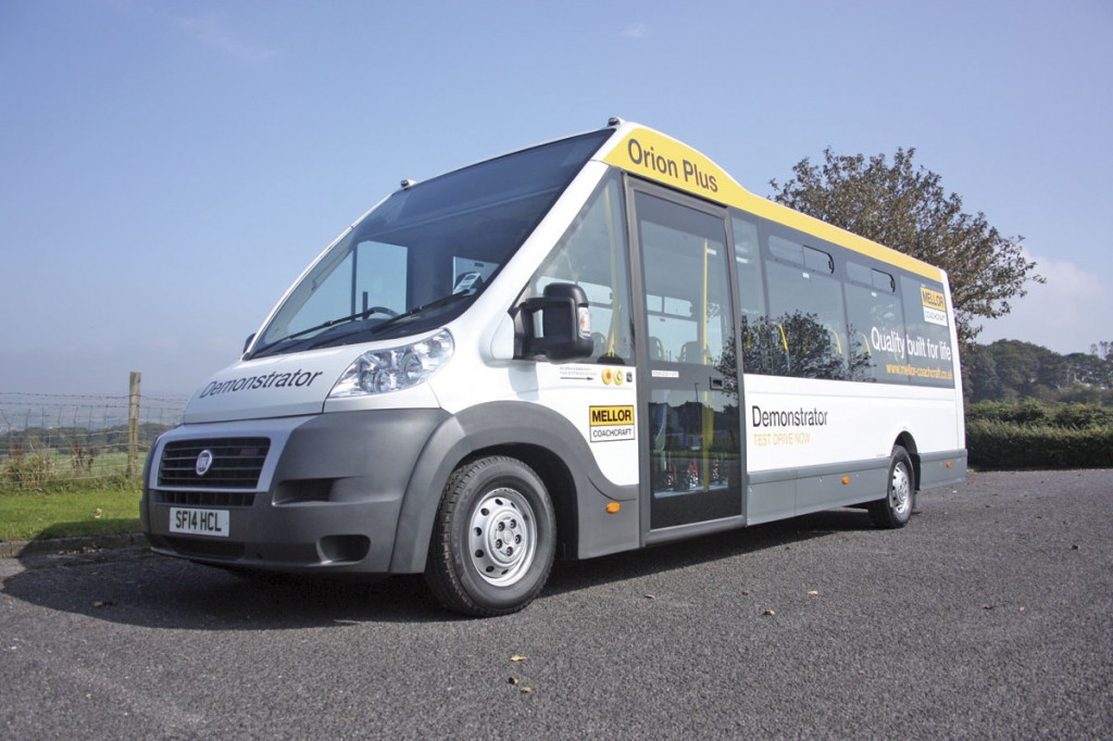 The first Mellor built Orion Plus. The vehicle is built to the local authority:community transport specification with wheelchair access via the side entrance and through doors at the rear