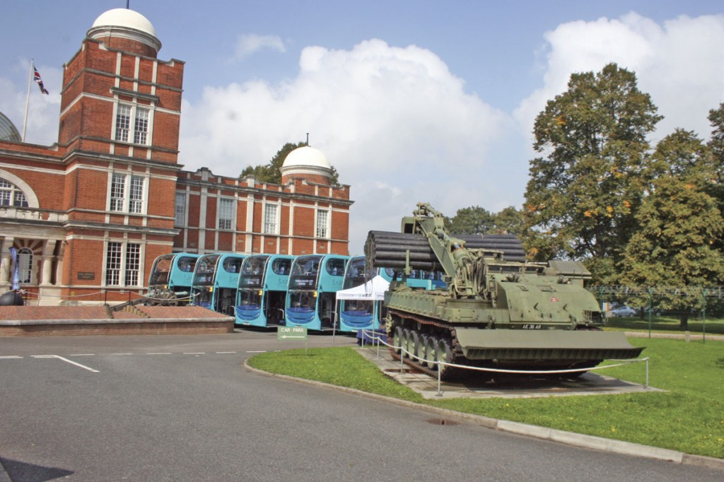The launch of the Sapphire service took place at the Royal Engineers' Museum in Gillingham on the route of the 101