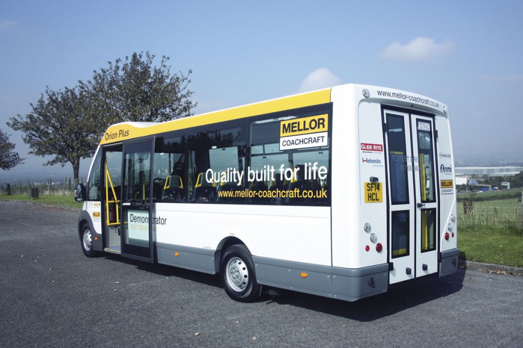 The smooth styling is continued at the back end. In service bus form the doors are replaced by a conventional one piece rear end