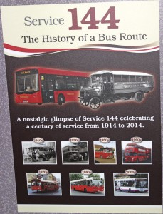 A poster carried on the specially liveried buses