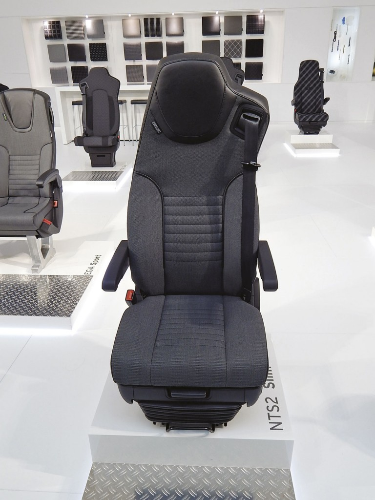 Asymmetrical option in the NTS 2 driver's seat range from ISRI
