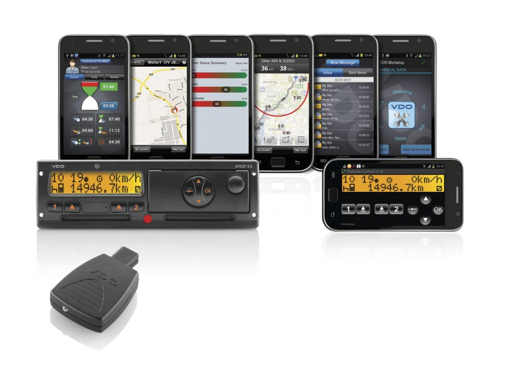Continental, through its VDO brand, has a range of equipment available to make even more use of the information available through digital tachographs. It has recently moved into smartphone apps for added functionality