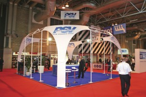 PSV Glass's stand at a trade show