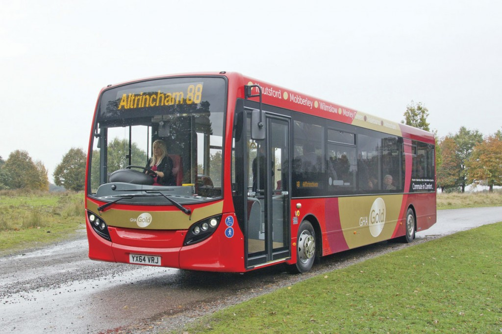 The ADL Enviro 200s are fitted with Hanover Displays destination signs